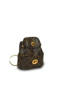Brown - Keyring Coin Pouch Keychain