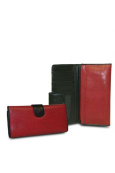 Red-Black - Red Checkbook Wallet