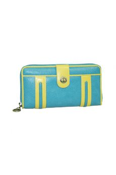 Turquoise - Zip-Around Long Wallet