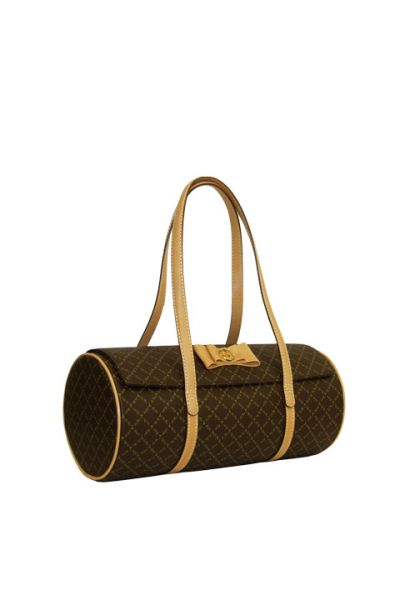 Brown - Fancy Barrel Handbag
