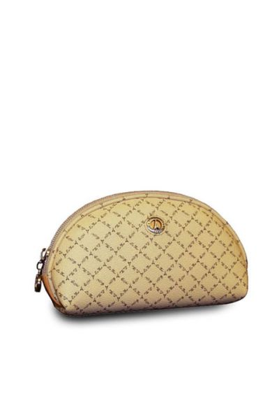 Beige - Large Cosmetic Pouch