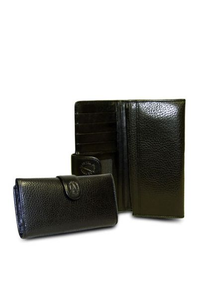 Red-Black - Black Checkbook Wallet