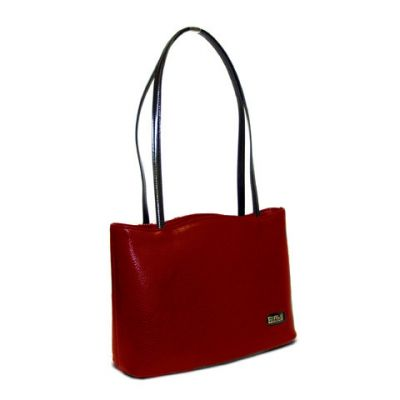Red-Black - Red Curve Top Tote