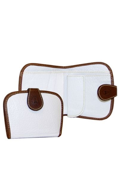 Weekend Leather - White Wallet