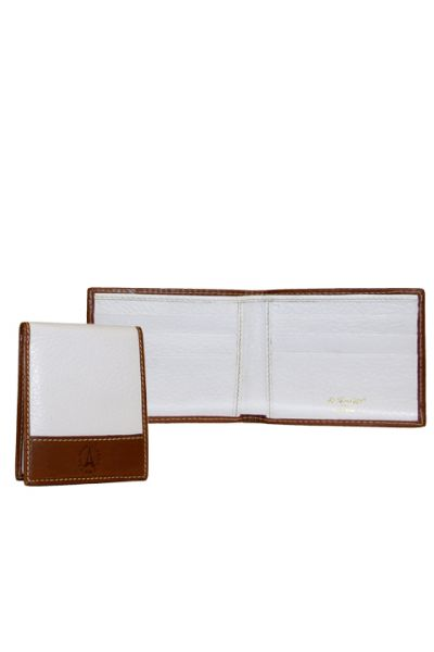 Weekend Leather - White Card Wallet