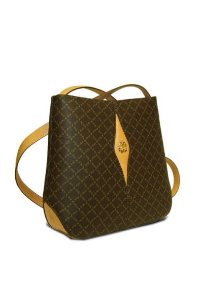 Brown - Diamond Tote w/ Strap