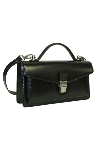 Cute Smooth Leather - Handle Bag w/ Strap