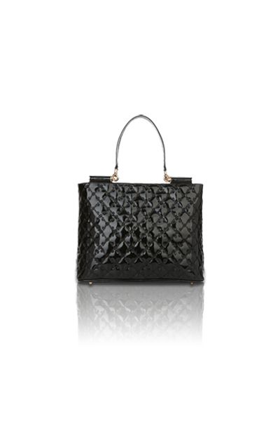 Lindsay Shoulder Tote (Black)