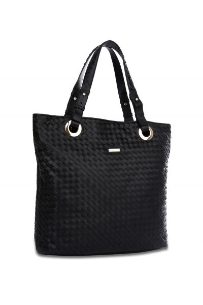 The Woven Tote (Black)