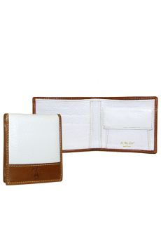 Weekend Leather - White Wallet w/ Coin Pouch