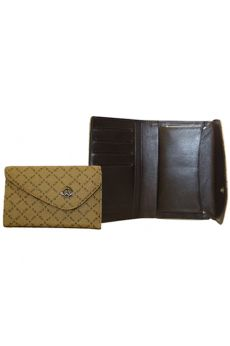 Mocha - Medium Wallet w/ Coin Clasp