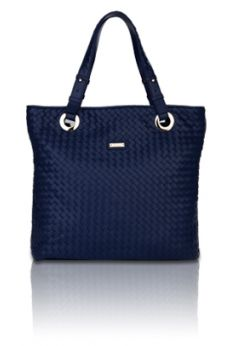 The Woven Tote (Blue)