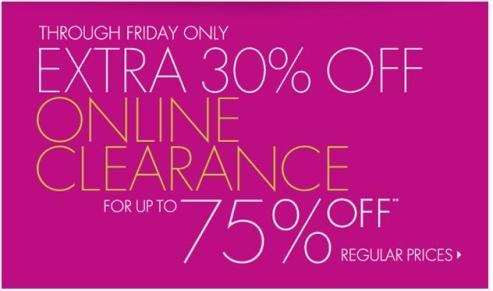 Extra 30% Off Clearance!