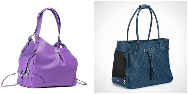 Two Fashionable Pet Carrier Handbags for People Who Hate Pet Carrier Handbags