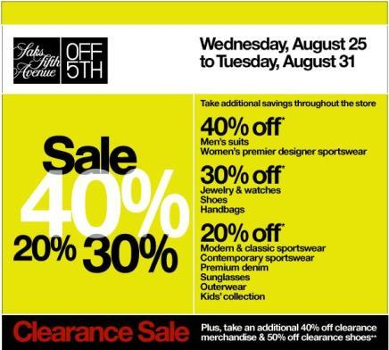 Sale at Off Saks