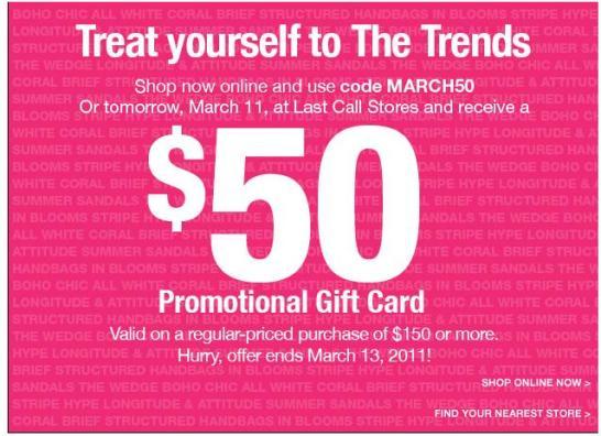 Last Call $50 Gift Card