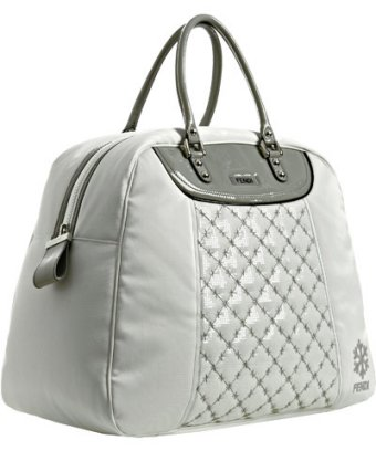 Fendi White Quilted Carryall Bag