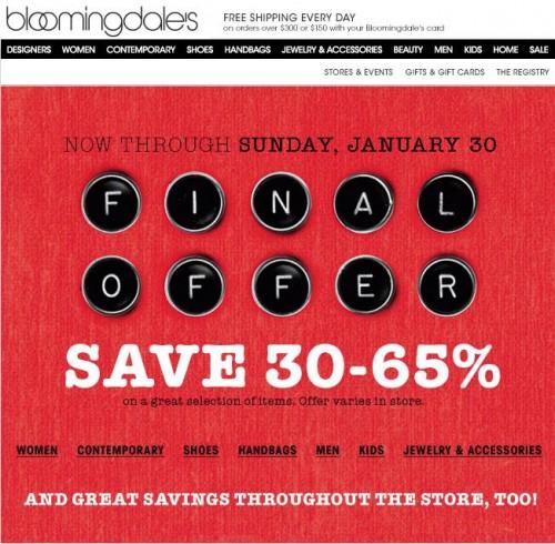 Bloomingdale's January Sale