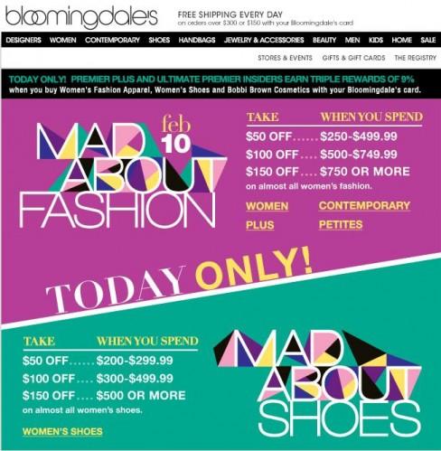 Bloomingdale's February Sale