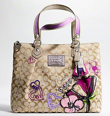 coach poppy petal print applique glam tote handbag blog rioni rh rioni com