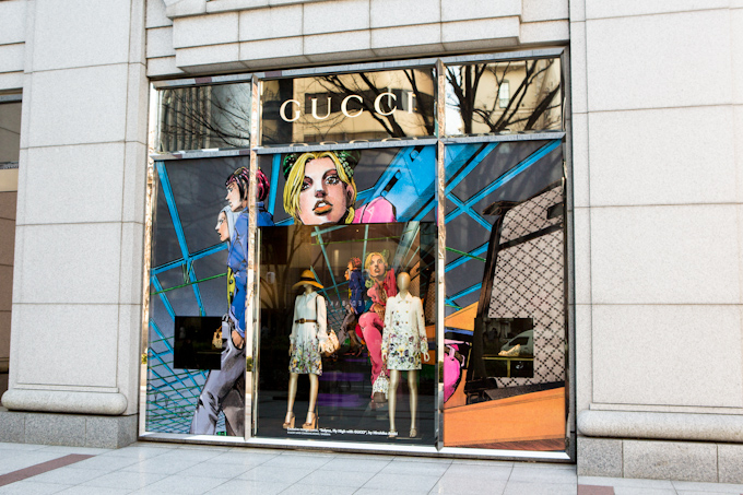 Gucci - Hirohiko Araki Window Display