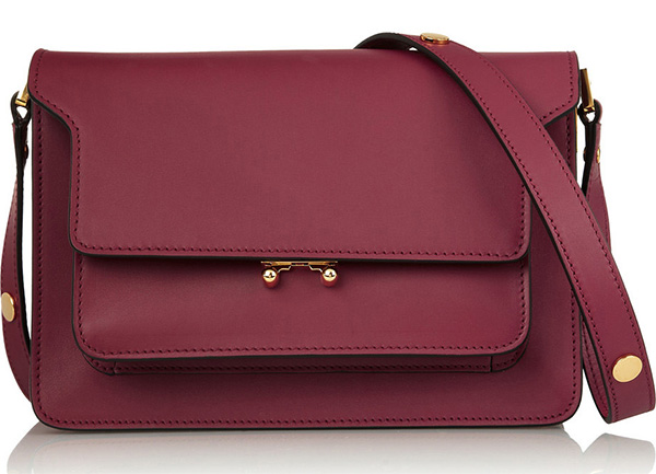 Burgundy Marni Trunk Bag
