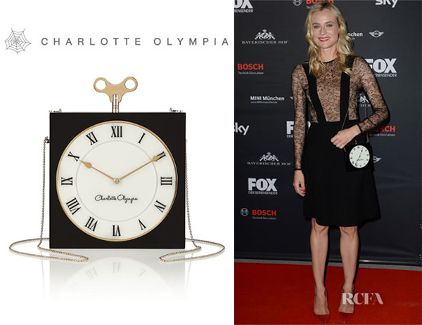 Diane Krugers Charlotte Olympia Timepiece Clutch