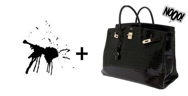 Ink Stains - Designer Handbag Lining