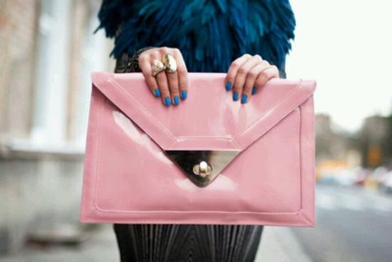 Oversized Pink Envelope Clutch