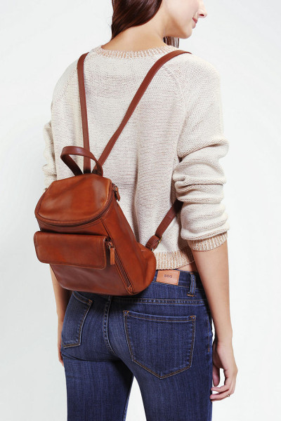 Urban Outfitters Brown Urban Renewal Vintage Small Leather Backpack
