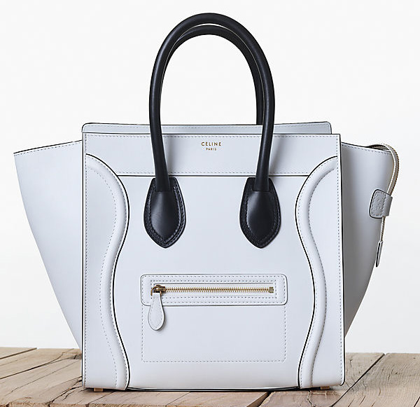 Celine Bicolor Luggage Tote