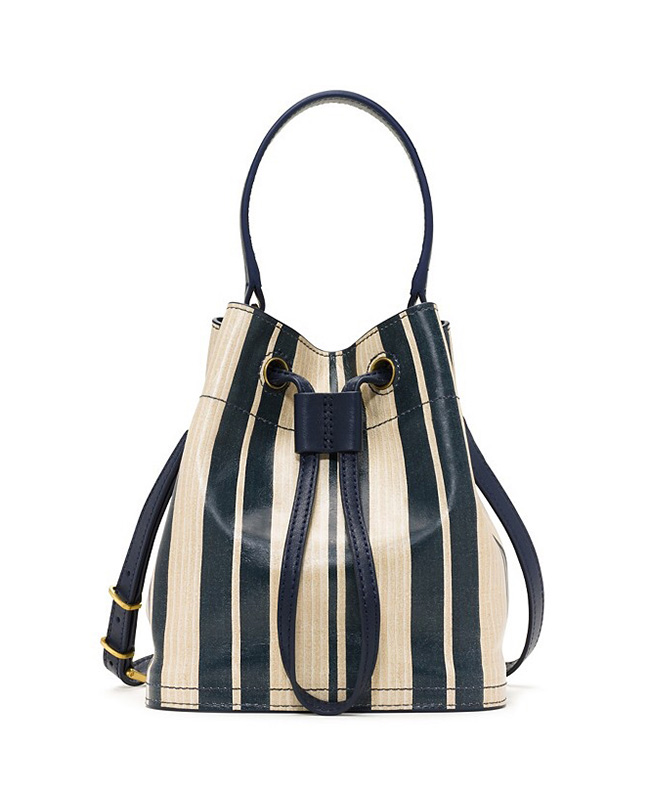 The Tory Burch Printed Leather Bucket Bag