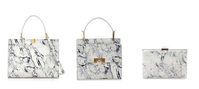 Balenciaga Marble Print Handbags