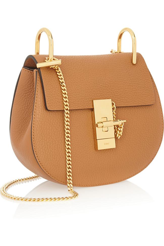 Chloe Drew Textured Leather Shoulder Bag
