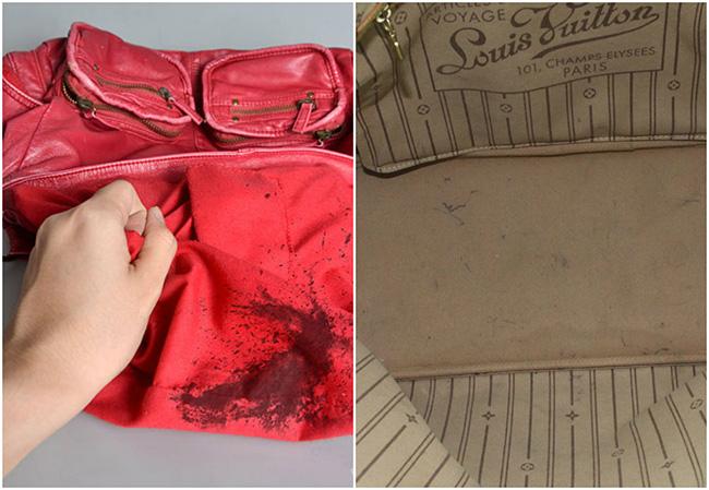 Designer Handbag Lining Stains