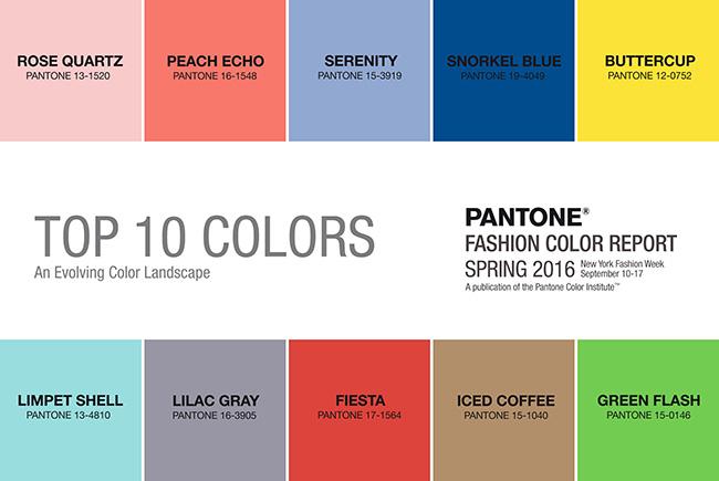Pantone Fashion Color Report 2016 Spring Summer