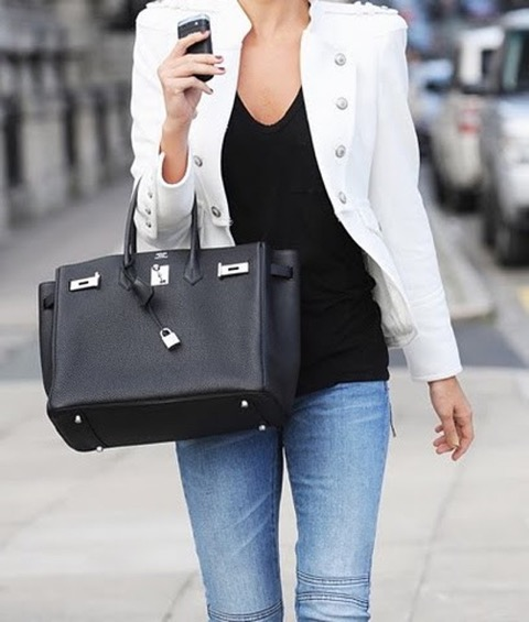 Black Palladium Hermes Birkin Bag Wearing