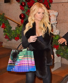 Jessica Simpson - Fendi Painted Leather Peekaboo Bag